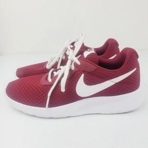 Nike Tanjun Maroon White Athletic Sneakers 812655